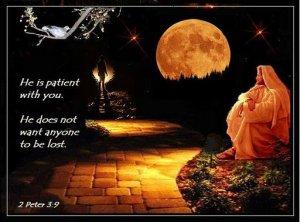 He is patient