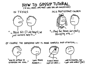 cartoon of gossip tutorial