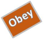 Obey wordart