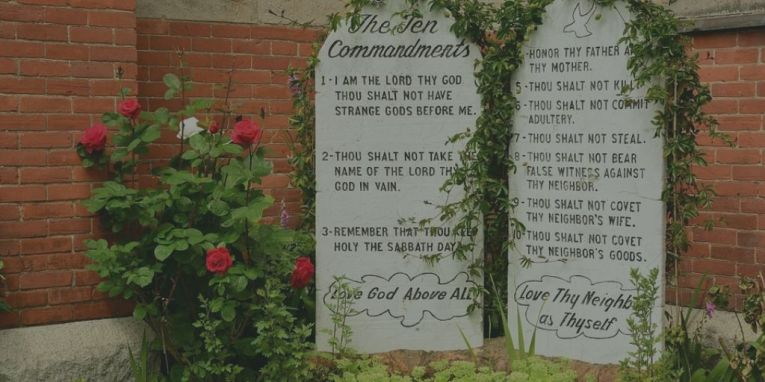 The ten commandments image
